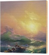 The Ninth Wave Wood Print