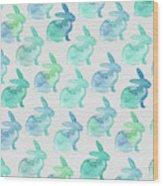 Watercolor Bunnies 1i Wood Print