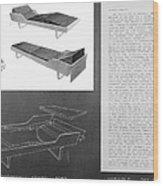 60s Recliner Wood Print
