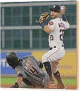 Arizona Diamondbacks V Houston Astros Wood Print