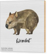 Australian Animals Watercolor Wood Print