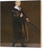 Boy With A Sword  Wood Print
