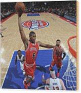 Chicago Bulls V Detroit Pistons Wood Print
