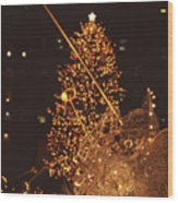 Christmas Tree At Rockefeller Center Wood Print