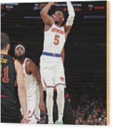 Cleveland Cavaliers V New York Knicks Wood Print
