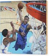 Dallas Mavericks V Oklahoma City Thunder Wood Print