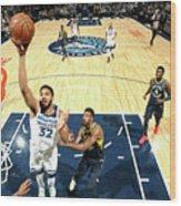 Indiana Pacers V Minnesota Timberwolves Wood Print