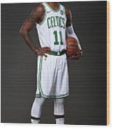 Kyrie Irving Boston Celtics Portraits Wood Print