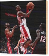 Miami Heat V Washington Wizards Wood Print