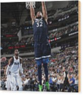 Minnesota Timberwolves V Dallas Wood Print