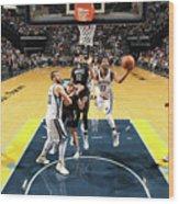 Minnesota Timberwolves V Memphis Wood Print