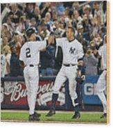 Mlb Sep 11 Orioles At Yankess - Derek 7 Wood Print
