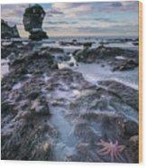 Motukiekie Beach - New Zealand Wood Print