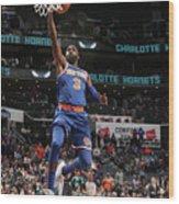 New York Knicks V Charlotte Hornets Wood Print