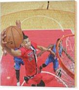 Oklahoma City Thunder V Washington Wood Print