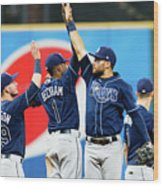 Tampa Bay Rays V Cleveland Indians Wood Print