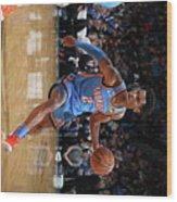 76ers Vs Thunder Wood Print
