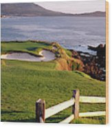 7th Hole At Pebble Beach Golf Links Wood Print