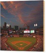 Atlanta Braves V St Louis Cardinals Wood Print