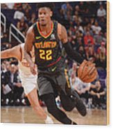 Atlanta Hawks V Phoenix Suns Wood Print