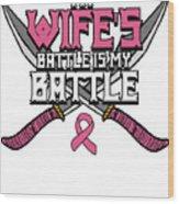 Breast Cancer Awareness Art For Warrior Women Light Dark Wood Print