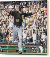 Chicago Cubs V Pittsburgh Pirates Wood Print