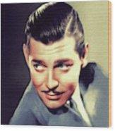 Clark Gable, Vintage Movie Star Wood Print