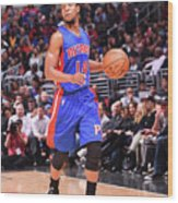 Detroit Pistons V La Clippers Wood Print