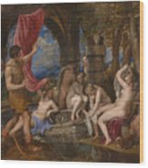 Diana And Actaeon  Wood Print