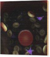 Diseased Blood Cells Wood Print