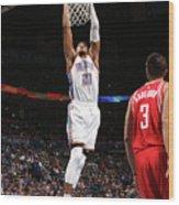 Houston Rockets V Oklahoma City Thunder Wood Print