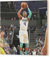 Indiana Pacers V Charlotte Hornets Wood Print