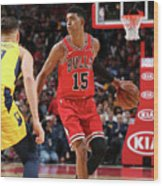 Indiana Pacers V Chicago Bulls Wood Print