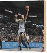 La Clippers V San Antonio Spurs Wood Print
