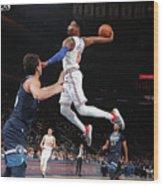 Minnesota Timberwolves V New York Knicks Wood Print