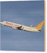 Pegasus Airlines Boeing 737-82r Wood Print