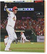 Pittsburgh Pirates V St. Louis Cardinals 8 Wood Print