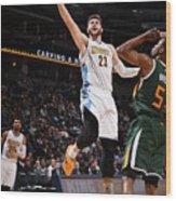 Utah Jazz V Denver Nuggets Wood Print