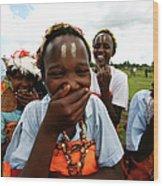 Women Empowerment In An Aids Ridden Wood Print