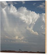 Prairie Storm Clouds Wood Print