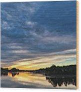 Danvers River Sunset Wood Print