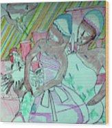 Kintu And Nambi Folktale Wood Print