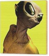 Alien, Artwork Wood Print