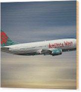America West Boeing 737-300 Wood Print