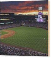 Atlanta Braves V Colorado Rockies Wood Print