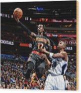 Atlanta Hawks V Orlando Magic Wood Print