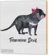 Australian Animals Watercolor Wood Print