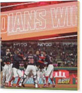 Boston Red Sox V Cleveland Indians 9 Wood Print