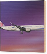 China Airlines Airbus A350-941 Wood Print