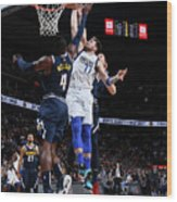 Dallas Mavericks V Denver Nuggets Wood Print
